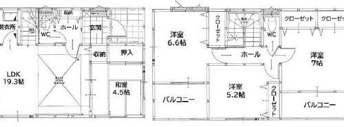 2号棟(間取)